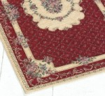 TAPIS BOUQUET 85 X 150 CM BORDEAUX