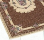 TAPIS BOUQUET 115 X 175 CM MARRON