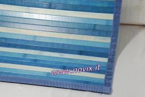 TAPIS BAMBOU 60x140 cm BLEU