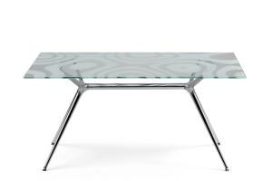 TABLE METROPOLIS 140 X 85 SERIGRAFATO LAQUÉ BRILLANT