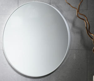 Specchio diametro 60 senza luci cornice in resina - Specchio senza cornice ...