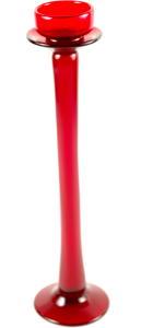 Porte Bougie en verre rouge