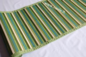 GREEN BAMBOO RUG 60X280 cm.