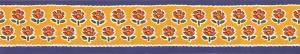 Bord adhésif décoratif avec les fleurs rouges