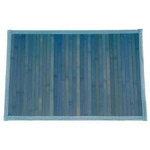 TAPPETO BAMBÙ  60X100 cm. BLUE TINTA UNITA