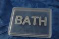 Bring soap BATH Acrylic Clear Silver