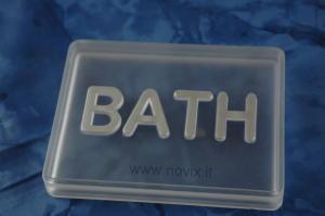 Porta saponetta BATH TRASP/ARGENTO