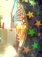 Runder Spiegel mit Sternen verzier