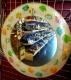 Runder Spiegel mit FISH DEKORIERTE